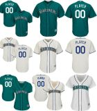 Настраиваемые любое имя любой № любой логотип ГРУППЫ МУЖЧИН ЖЕНЩИН детей в Сиэтл Маринерс Cool база бейсбольного футболках NIKEID