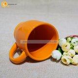 Taza de cerámica esmaltada anaranjada 200ml del café express de la sublimación
