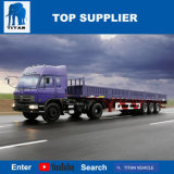 대륙간 탄도탄 차량 - 3 판매를 위한 반 차축 측벽 트레일러 40FT 콘테이너 측 로더