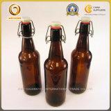 Бутылка пива типа Grolsch пакета коробки янтарная стеклянная (1254)
