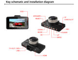 Coche Camera Video Recorder 178 Degree Car DVR con G-Sensor