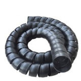 Chemise protectrice spiralée hydraulique en plastique pour les câbles de masse d'avion