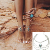 Silberne Farben-Knöchel-Armband-Fuss-Schmucksache-barfüßigsandelholz-Fußkettchen