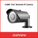 De openlucht 4MP Poe IP Camera van de Veiligheid van kabeltelevisie van het Netwerk Waterdichte