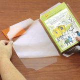 Protection auto-adhésive collante claire de couverture de livre de film de pain