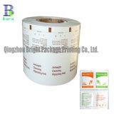 Hisopos con alcohol de 73 gramos de papel de aluminio