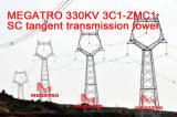 Башня передачи тангенса Sc Megatro 330kv 3A3-Zm3