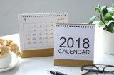 Нестандартная конструкция печатание календара стола 2018 Новый Год