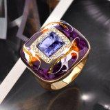 Ring van de Vinger van de Verklaring van het Email van de Manier van vrouwen en van Mannen de Gouden