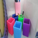 Titular populares creativo del silicón de la pluma florero lápiz