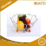철사 강철 전시 접시 부엌 목욕탕 과일 바구니 선반