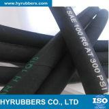 Boyau hydraulique tressé de fibre de SAE100 R3