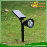 Lumière solaire de jardin de pelouse de lumières extérieures d'horizontal de DEL