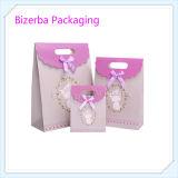 Professionnel de couleur violet des sacs en papier cadeau fournisseur chinois