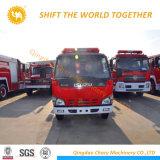 4X2 Isuzuの二重タクシートラック3000リットルの水消火活動の