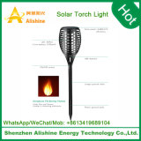 Luz al aire libre del césped de la llama LED del baile de la venta de la luz solar caliente de la antorcha con en del interruptor