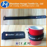 Courroie élastique personnalisée réglable de crochet et de boucle avec la boucle en plastique