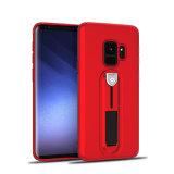 360程度のSamsung S9のための保護によって隠されるKickstand TPUの耐震性の携帯電話の箱