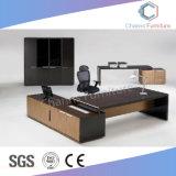Muebles de madera en forma de L con cajón de la Oficina (CAS-MD18A06)