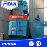 Máquina del chorreo con granalla de la correa de la caída para la limpieza de los resortes y de los tornillos