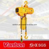 Vanbon 1tonne palan à chaîne électrique de type fixe, palan avec crochet
