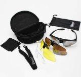 Lunettes de protection tactique de plein air Sports Lunettes de soleil avec lentille Changeblae