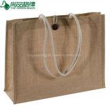 Juta durável reusável natural popular que anuncia o saco para a compra
