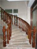 Balustrade d'escalier en bois solide de Natuarl de matériau de construction