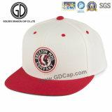 Tampão vermelho Khaki do Snapback do basquetebol da alta qualidade com emblema do bordado