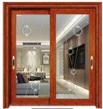 Une bonne chaleur&Isolation acoustique conçu en aluminium avec vitre de porte coulissante