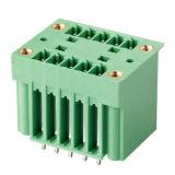 Conector de bloque de terminales enchufable de 3,81 mm y doble nivel