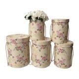 La ronda del cilindro de envases de cartón de Verificación de las flores con tapas