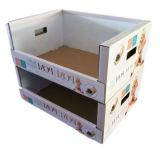 破裂音のボール紙のペーパースーパーマーケットの記憶装置の折るボール紙の棚