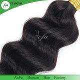 自然な波のブラジル人100%の人間の毛髪の編むこと