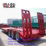 Les essieux BPW 50 tonne Tri-Axle transporteur Heavy Duty faible Remorque de lit