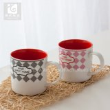 Cristal Color 12oz 14oz taza de café de cerámica de diseño del logotipo propio