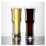 タケ形ビールガラス500ml水晶ビールコップのカクテルグラス