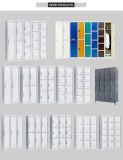 Blauwe Voeten Drie van het Metaal van de Prijs van de Kleur Goedkope de Kast van de Opslag van de Houder van de Kaart van de Naam van de Opening van de Lucht van het Hangslot van de Lijn