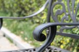 Meubilair van het Aluminium van het Praatje van het Hotel van de tuin het Gemoedelijke Reeks Gegoten