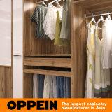 Het moderne Ontwerp van de Garderobe van de Kast van de Slaapkamer van de Korrel van de Luxe Houten Walk-in (YG16-M08)