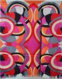 100%のMerinoウールのデジタルによって印刷されるスカーフ