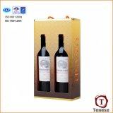 Tarjeta de papel del vino caja / de cartón de la caja portable del vino