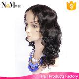Meia máquina da peruca frouxa peruana do cabelo humano da onda feita & meia mão amarrada com pentes e a peruca trançada africana das cintas