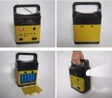Mini lanterna solar do diodo emissor de luz com o rádio para a HOME e a iluminação de acampamento