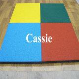 De haut Grade/caoutchouc caoutchouc coloré paver les carreaux de revêtement de sol pour la maternelle