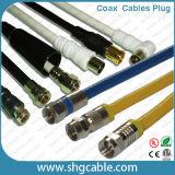 Ce RoHS 75 ohms de câble coaxial de liaison 19patc 19vrtc 19vatc de TV satellite