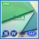 Grado ULTRAVIOLETA de la hoja sólida clara del policarbonato para el material para techos de la construcción
