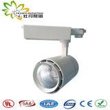 Luzes de pista de 20 W com adaptador de vias 3 e 5 anos de garantia e o LED de Ângulo pequeno via Luzes de foco