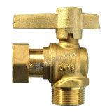 Dn15 Lockbale латунный шаровой клапан с бесплатным гайку