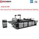 De ultrasone geweven Dwars Scherpe Machine zxq-A1200 van het Lassen niet